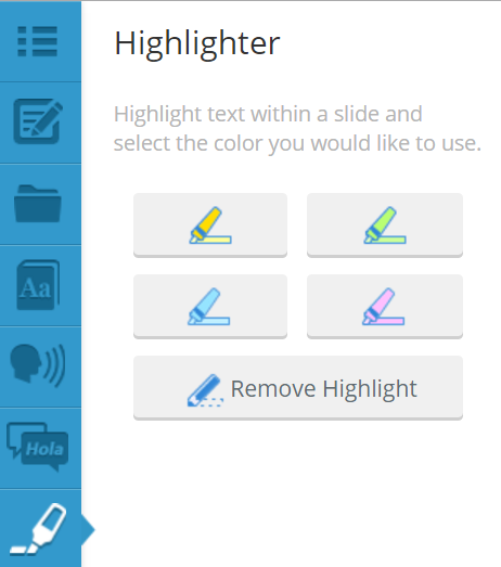 Plato Courseware Highlighter Tool