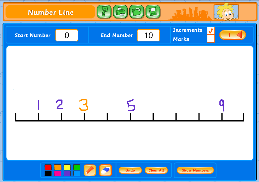 EducationCity Number Line Topic Tool for Guided Practice