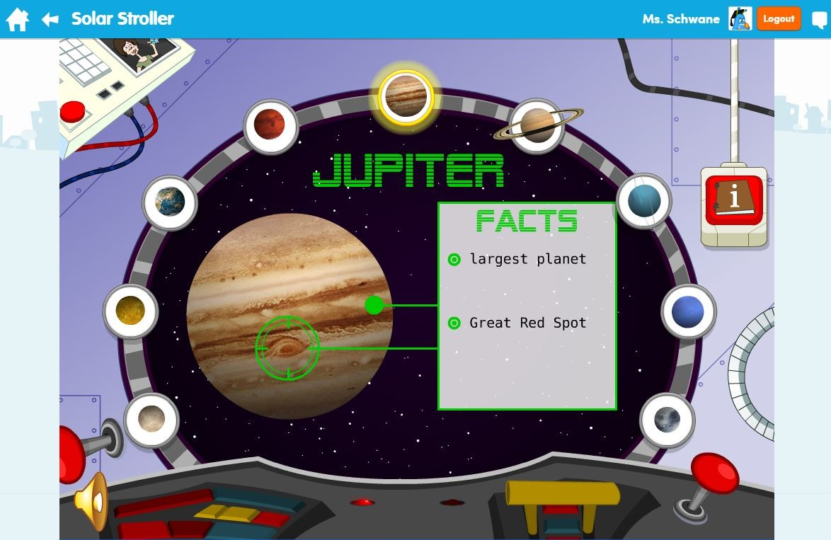 "EducationCity Learn Screens ""Solar System"""