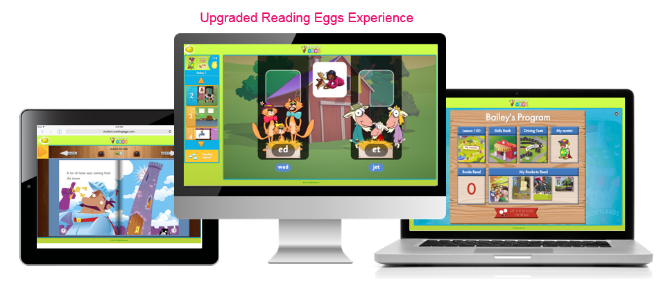 Reading Eggs Updated Learner Experience