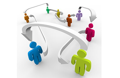 Interaction People Social Networking Technology Concept Stock ...